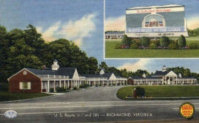 White House Motor Lodge - Richmond, Virginia VA Postcard