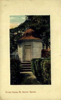 School House - Mt Vernon, Virginia VA Postcard
