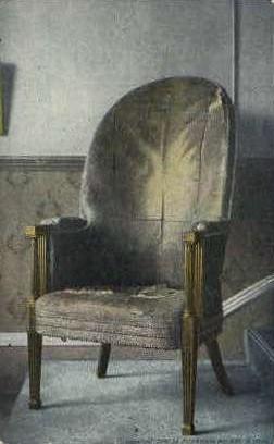 Washingtons Chair - Alexandria, Virginia VA Postcard