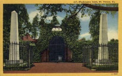 Washingtons Tomb - Mt Vernon, Virginia VA Postcard
