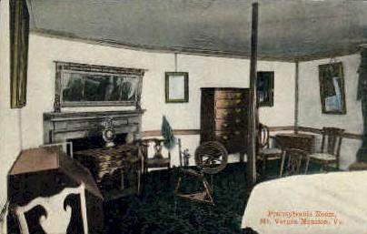 Pennsylvania Room - Mt Vernon, Virginia VA Postcard