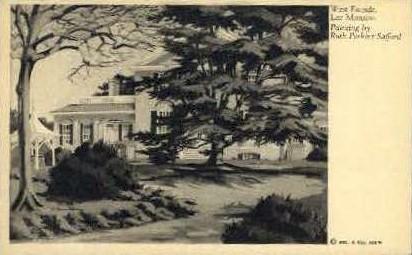 West Fa¬°ade, Lee Mansion - Misc, Virginia VA Postcard