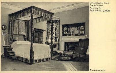 General Lees Room - Misc, Virginia VA Postcard