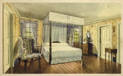 General Washingtons Bed Chamber - Mt Vernon, Virginia VA Postcard