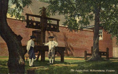 Public Gaol - Williamsburg, Virginia VA Postcard
