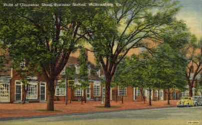 Duke of Gloucester St. - Williamsburg, Virginia VA Postcard