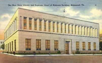 Supreme Court of Appeals Bldg. - Richmond, Virginia VA Postcard