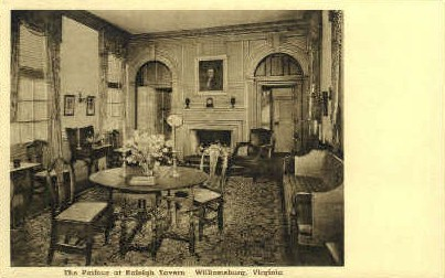 Parlour, Raleigh Tavern - Williamsburg, Virginia VA Postcard