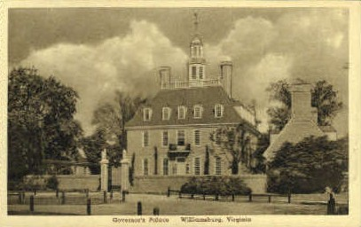 Governors Palace - Williamsburg, Virginia VA Postcard
