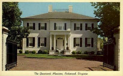 The Governors Mansion - Richmond, Virginia VA Postcard