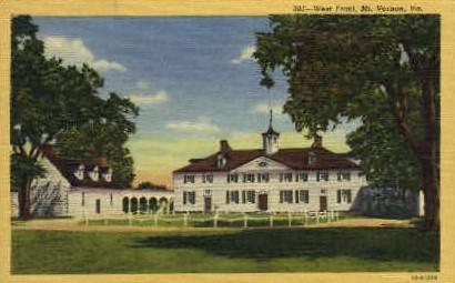 West Front - Mt Vernon, Virginia VA Postcard