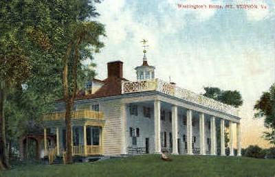 Washingtons Home - Mt Vernon, Virginia VA Postcard