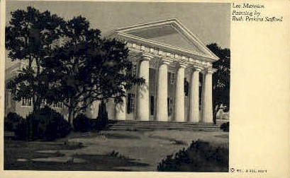 Lee Mansion - Misc, Virginia VA Postcard