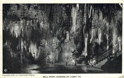 Ball Room, Luray Caverns - Virginia VA Postcard