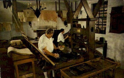 Printing Office - Williamsburg, Virginia VA Postcard