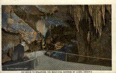 Entrance to Ballroom, Luray Caverns - Virginia VA Postcard