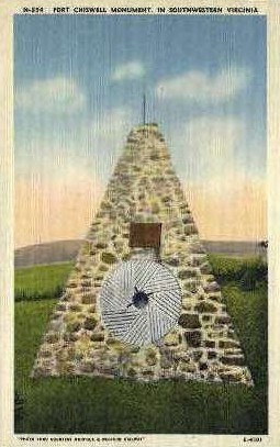Fort Chiswell Monument - Misc, Virginia VA Postcard