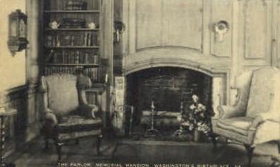 The Parlor, Memorial Mansion - Misc, Virginia VA Postcard