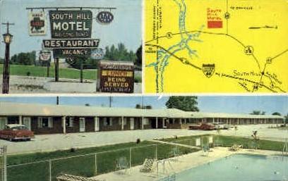 South Hill Motel & Restaurant - Virginia VA Postcard