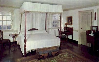 Washingtons Bedroom - Mt Vernon, Virginia VA Postcard