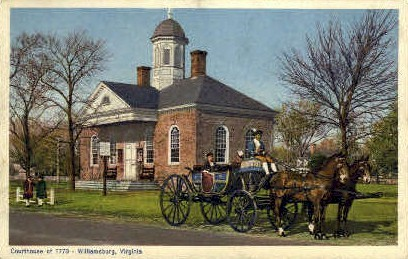 Courthouse - Williamsburg, Virginia VA Postcard