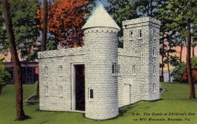Castle at Childrens Zoo - Roanoke, Virginia VA Postcard