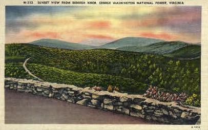 Reddish Knob - Misc, Virginia VA Postcard