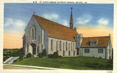 St. Anns Roman Catholic Church - Bristol, Virginia VA Postcard