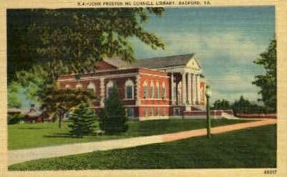 John Preston McConnell Library - Radford, Virginia VA Postcard