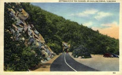 Tunnel on Skyline Dr. - Misc, Virginia VA Postcard