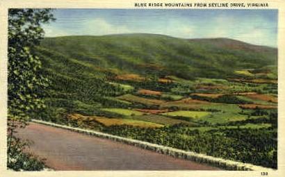 Blue Ridge Mountains - Misc, Virginia VA Postcard