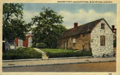 Washingtons HQ - Winchester, Virginia VA Postcard
