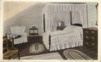 Room where Mrs. Washington Died - Mt Vernon, Virginia VA Postcard