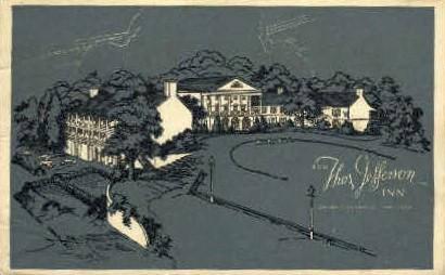 Thos. Jefferson Inn - Charlottesville, Virginia VA Postcard