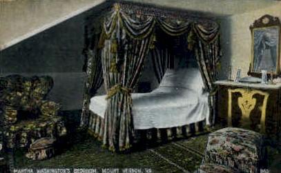 Martha Washingtons Bed Room - Mt Vernon, Virginia VA Postcard