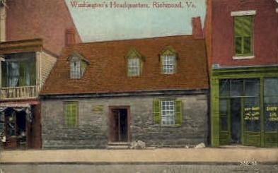 Washingtons HQ - Richmond, Virginia VA Postcard