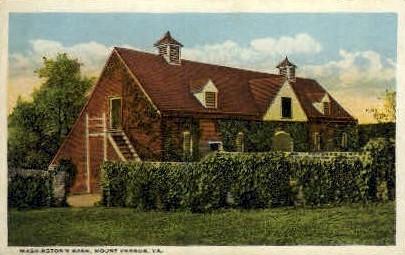 Washingtons Barn - Mt Vernon, Virginia VA Postcard