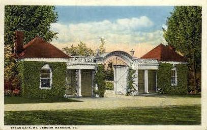Texas Gate - Mt Vernon, Virginia VA Postcard