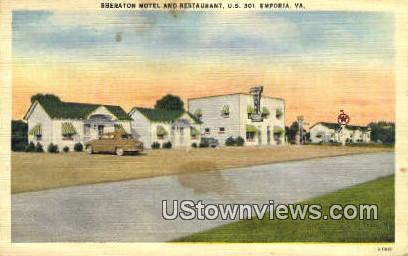 Sheraton Motel And Restaurant  - Emproia, Virginia VA Postcard
