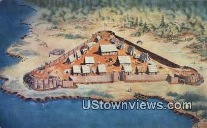 James Fort  - Jamestown, Virginia VA Postcard