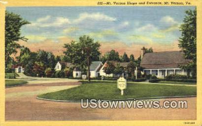 Mount Vernon Shops And Entrance  - Virginia VA Postcard