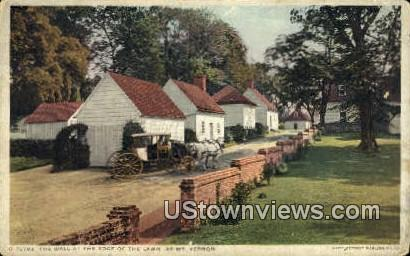 The Wall At The Edge Of The Lawn  - Mount Vernon, Virginia VA Postcard