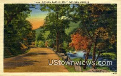 Goshen Pass  - Southwestern, Virginia VA Postcard