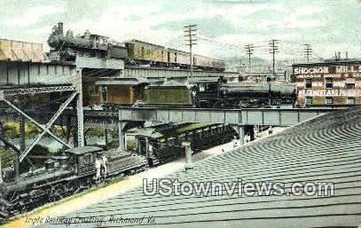 Triple Railway Crossing  - Richmond, Virginia VA Postcard