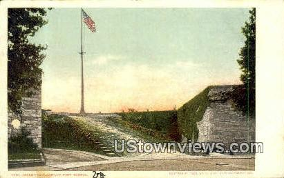Ascent To Flagstaff  - Fort Monroe, Virginia VA Postcard
