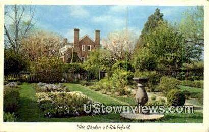 The Garden At Wakefield  - Virginia VA Postcard