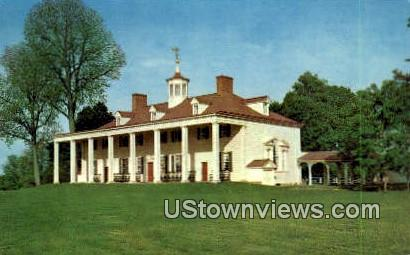 George Washinton Mansion  - Mount Vernon, Virginia VA Postcard