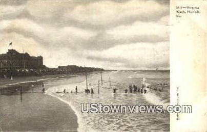 Beach  - Norfolk, Virginia VA Postcard