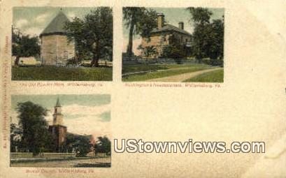 Bruton Parish Church Etc - Williamsburg, Virginia VA Postcard