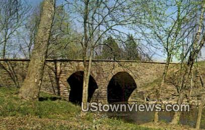 The Old Stone Bridge  - Battlefield Park, Virginia VA Postcard